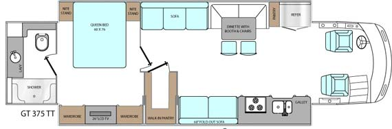 Rexhall motorhome floor plans bing images for Gt issa floor plans