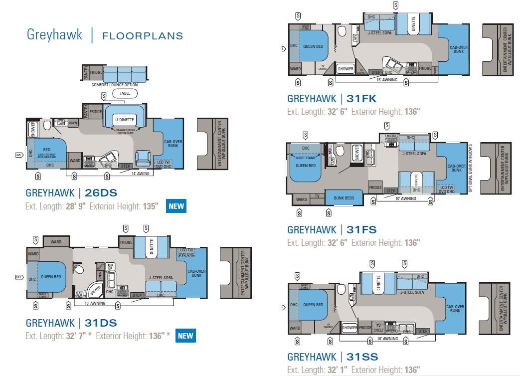 Jayco Greyhawk Class C Motorhome Floorplans 2011 Large