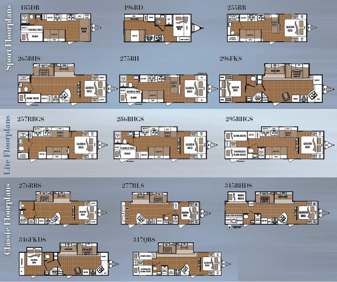 Travel Trailers Floor Plans On 2013 Coleman Trailer