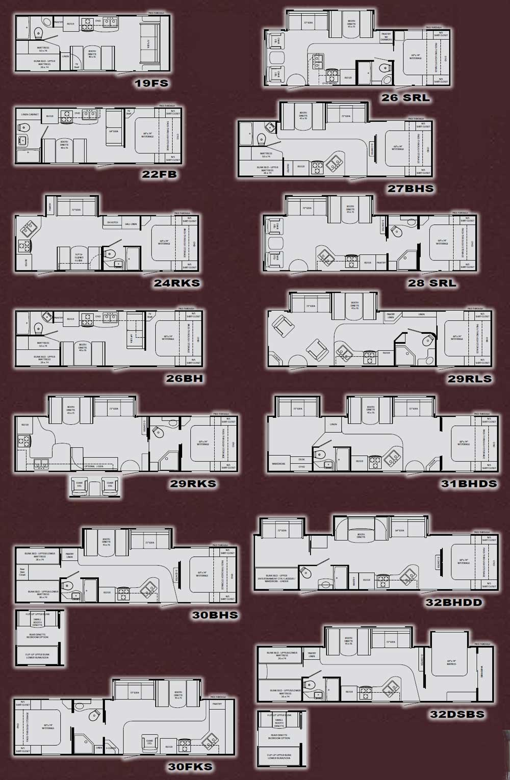 Heartland North Country Travel Trailer Floorplans Large
