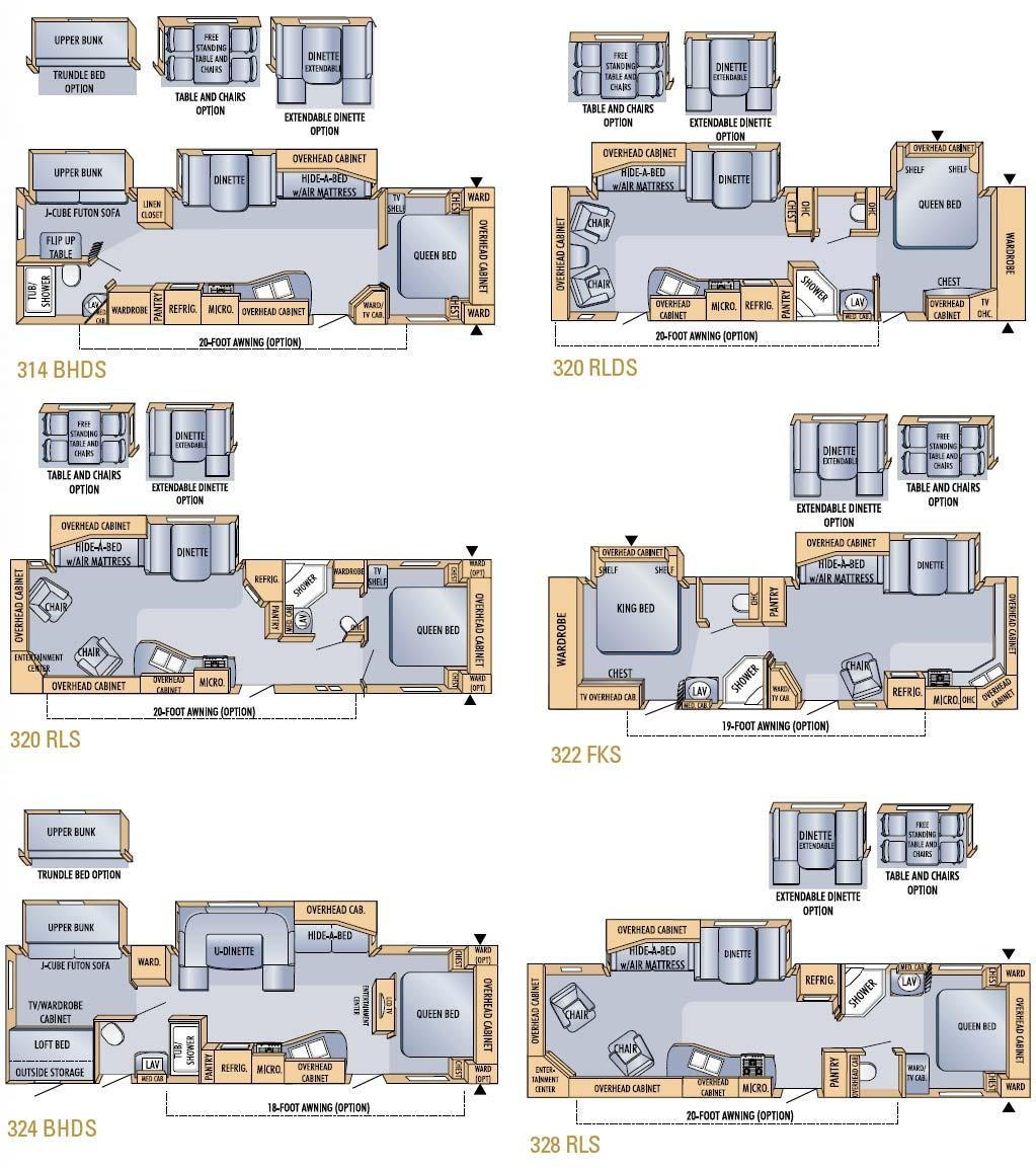 Jayco Eagle Travel Trailer Floorplans Large Picture