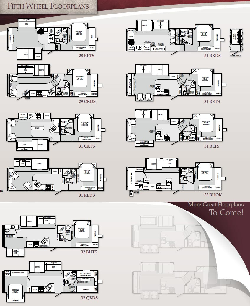 Palomino Sabre Fifth Wheel Floorplans Large Picture
