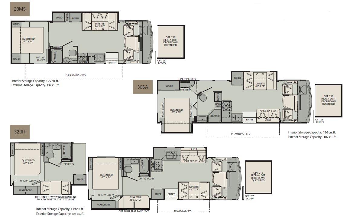 Fleetwood tioga rv floor plans for Large floor plans