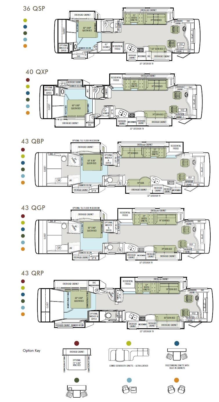 tiffin allegro bus diesel motorcoach rv floorplans large