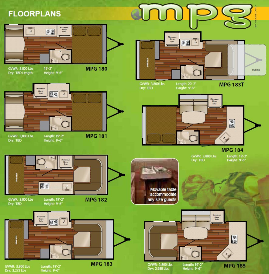 heartland mpg travel trailer floorplans 2011 large picture