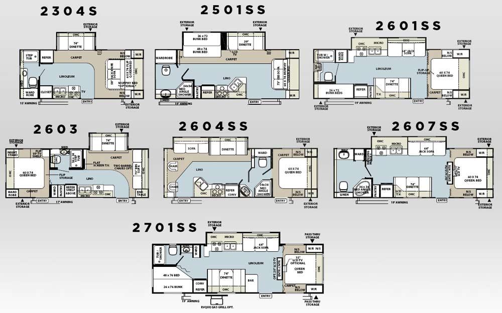 Forest River Rockwood Travel Trailer Floorplans