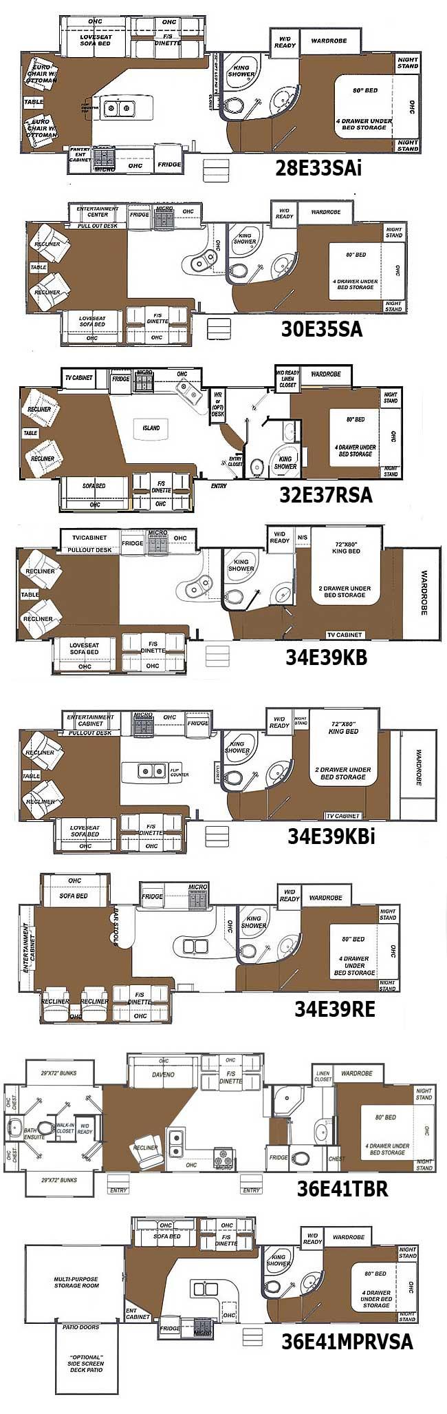 91 5th Wheel Floor Plans Fifth Floorplan Toy