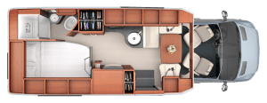 2017 Serenity Leisure Travel Van Class B Floorplan