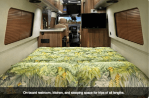 2017 Airstream TB Interstate Touring Coach living quarters