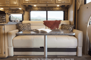 2017 Thor Outlaw 29H Sleeper Sofa