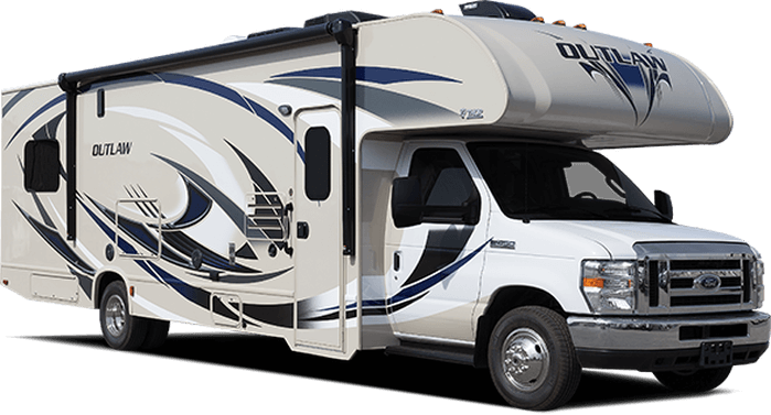 2017 outlaw class c toy hauler roaming times for Toy hauler motor homes