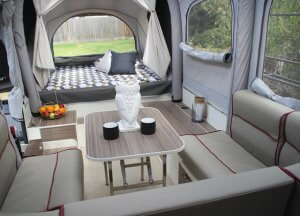 Opus Camper Inflated Interior View