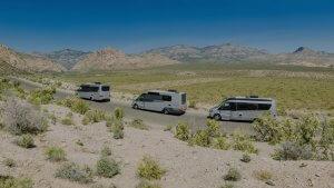convoy of RV's