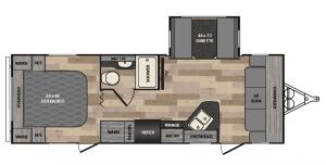 Winnebago 2017 Minnie 2500FL Floor Plan