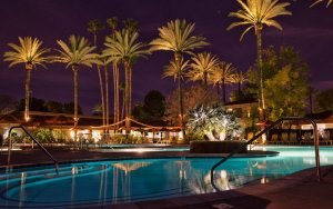 Nighttime Pool