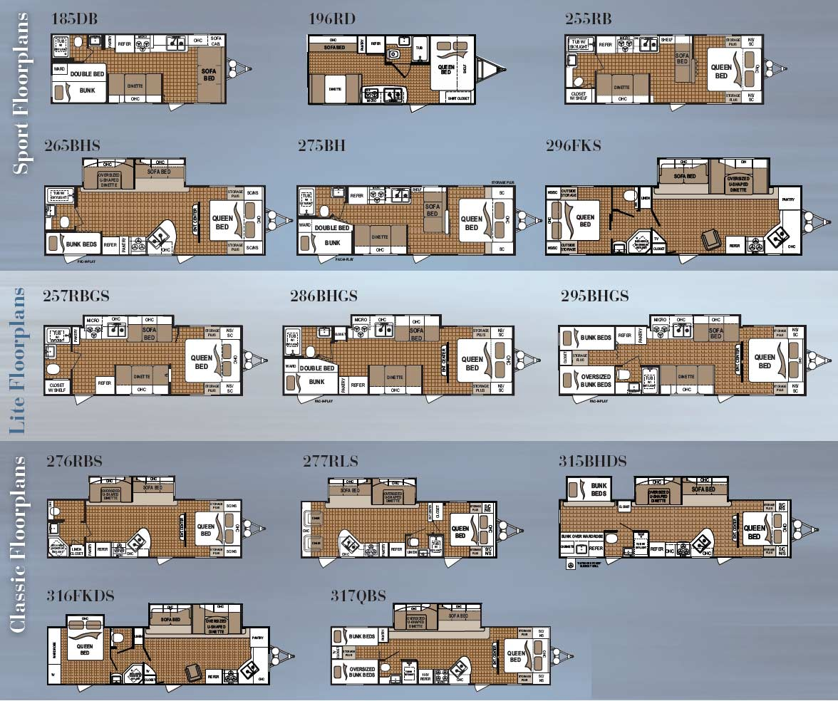 Dutchmen Travel Trailer Floorplans 11 Models Available