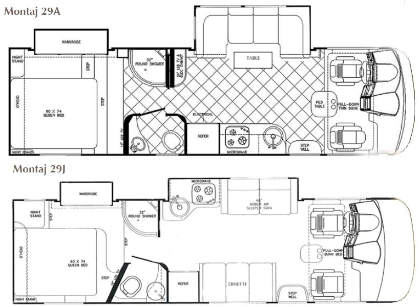 Image Result For Class A Motorhome Plans