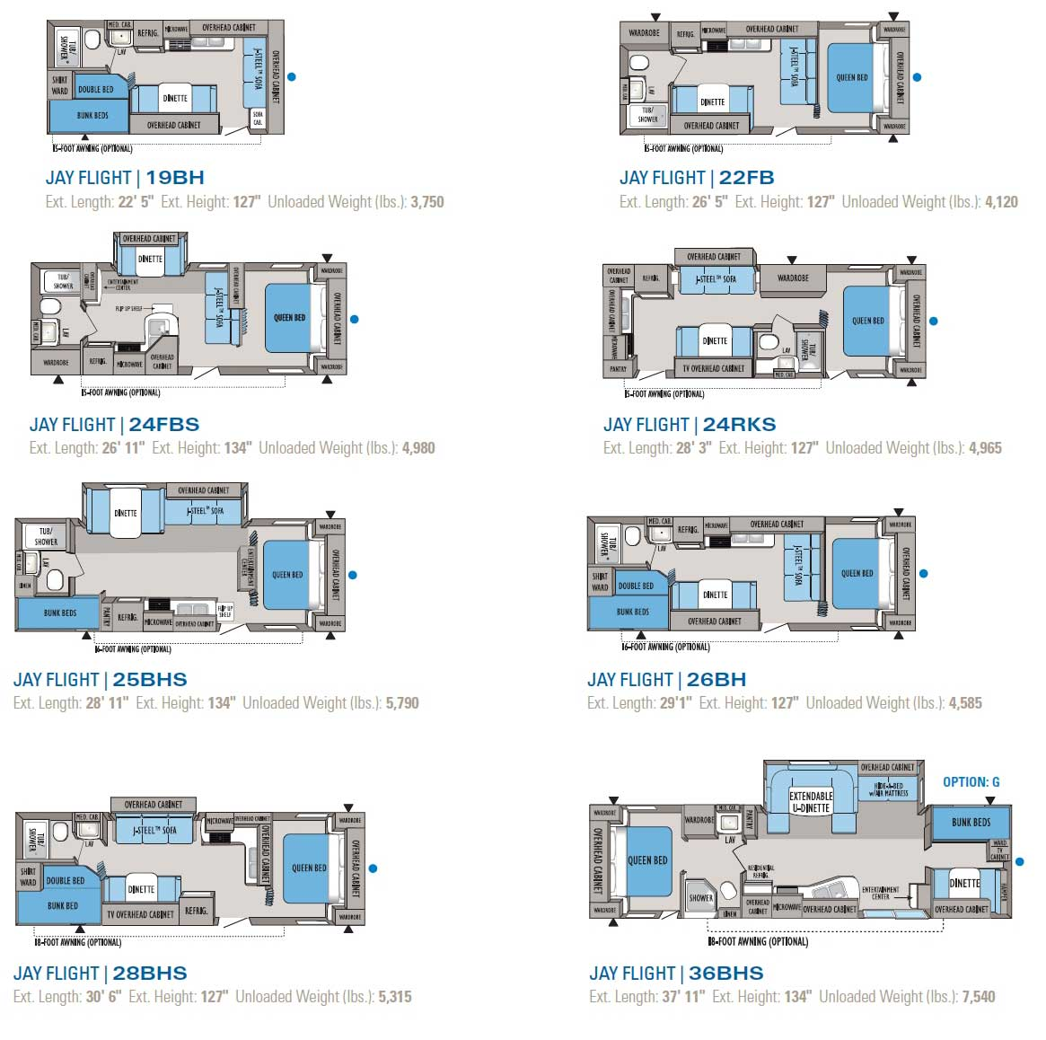 2010 Jayco Jay Flight Travel Trailer Floorplans Large