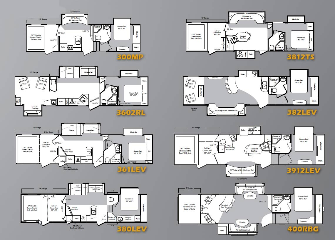 Keystone Raptor Fifth Wheel Toy Hauler 2010 Floorplans Large Picture